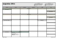 Microsoft Office Outlook - Stijl voor maandelijks - Het Mozaiek