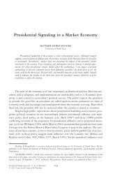 Presidential Signaling in a Market Economy - Department of Political ...