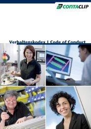 Verhaltenskodex | Code of Conduct - CONTA-CLIP