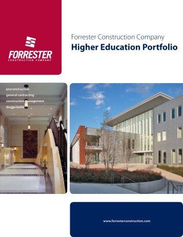 Higher Education Portfolio - Forrester Construction