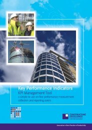 KPI Management Tool - Constructing Excellence