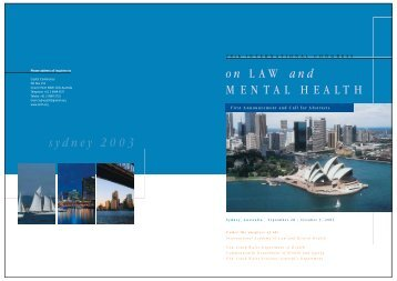 sydney 2003 - International Academy of Law and Mental Health