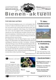 bienen-aktuell Nr. 28.pmd - Liechtensteiner Imkerverein