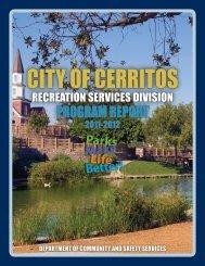 Recreation Division Annual Report 2011-2012 (PDF) - City of Cerritos