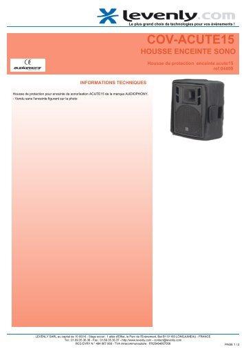 Fiche produit AUDIOPHONY - COV-ACUTE15, HOUSSE ... - Levenly