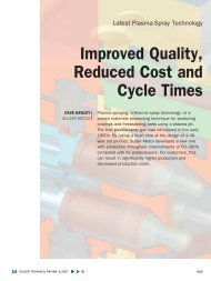 Improved Quality, Reduced Cost and Cycle Times