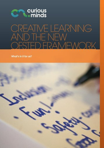 Creative learning and the new ofsted framework - University of ...