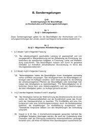 TV-L Sonderregelungen 1
