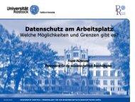 aus Daten - Personalrat - Universität Rostock