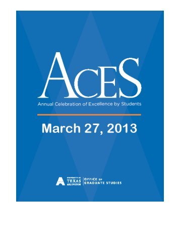 2013 ACES Program Book (in PDF) - The University of Texas at ...