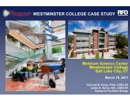westminster college case study - Learning Spaces Collaboratory