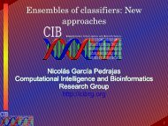 Ensembles of classifiers - Computational Intelligence and ...