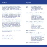 Programm Grußwort - Lokale Bündnisse für Familie