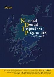 National Dental Inspection Programme of Scotland - Scottish Dental