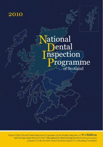 National Dental Inspection Programme of Scotland - Scottish Dental