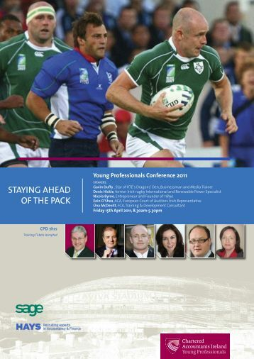 STAYING AHEAD OF THE PACK - Chartered Accountants Ireland