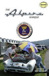 issue 16 winter 2006 - The Sunbeam Alpine Owners Club of America