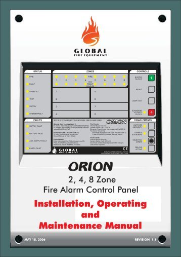 Installation, operation and maintenance manual - Fire & Security ...