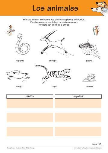 Los animales - Ernst Klett Verlag