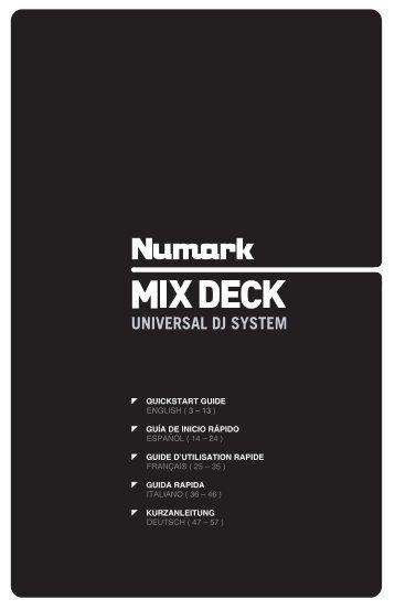 MIXDECK Quickstart Guide - v1.3 - UniqueSquared.com