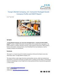 JSB Market Research: Youngs Market Company, LLC  - Company Profile and SWOT Report