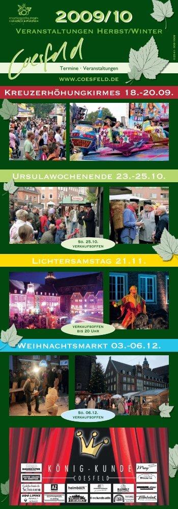 Ursulawochenende 23.-25.10. Lichtersamstag 21.11 - Stadt Coesfeld