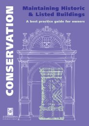 Conservation leaflet - Maintaining historic and listed buildings