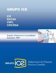 III Trimestre 2009 - Grupo ICE