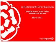 Visitor Satisfaction - VisitEngland