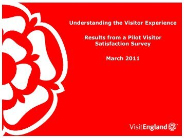 Visitor Satisfaction - VisitEngland