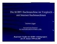 Die KOBV-Suchmaschine im Vergleich mit Internet-Suchmaschinen