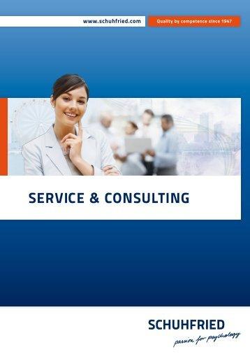 """Catalog """"Service & Consulting"""" (PDF) - Schuhfried.com"""
