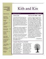 2011 July - August - Marshfield Area Genealogy Group