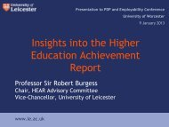 Insights into the Higher Education Achievement Report