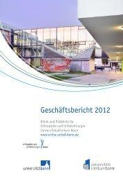 Jahresbericht 2012 - Klinik für Orthopädie und Unfallchirurgie der ...