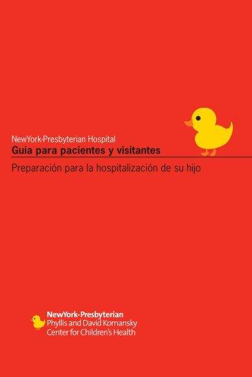 Guía para pacientes y visitantes Preparación para la hospitalización ...
