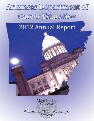 2012 Annual Report - Arkansas Department of Career Education ...