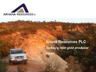 Ariana Resources One2One Presentation - Proactive Investors