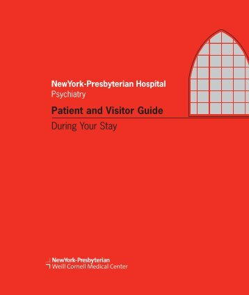 Patient and Visitor Guide - New York Presbyterian Hospital