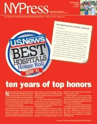 August 2010 NYPress - New York Presbyterian Hospital