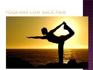 Yoga and Low Back Pain