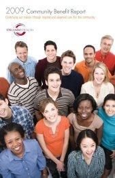 2009 Community Benefit Report - Orlando Health