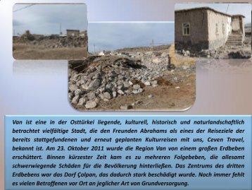PDF-Datei über die Spendenaktion in Van - Gesellschaft Freunde ...