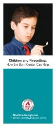 Children and Firesetting: How the Burn Center Can Help - New York ...