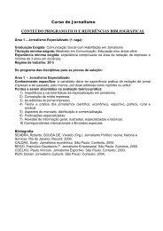 Curso de Jornalismo CONTEÚDO PROGRAMÁTICO E ... - Ucg