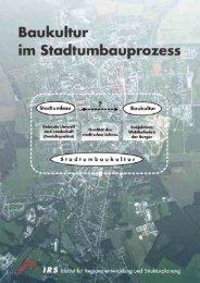 Baukultur im Stadtumbauprozess - Bundestransferstelle Stadtumbau ...