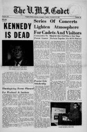 The Cadet. VMI Newspaper. November 22, 1963 - New Page 1 ...