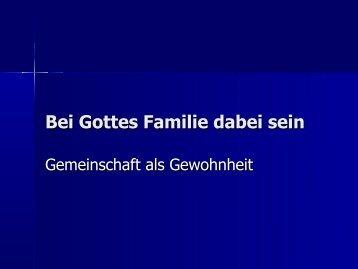 Bei Gottes Familie dabei sein - EFG Hemsbach