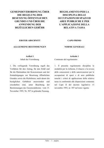 Verordnung über die Regelung der Besetzung öffentlichen Grundes