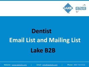 Dentist Email List and Mailing List Lake B2B